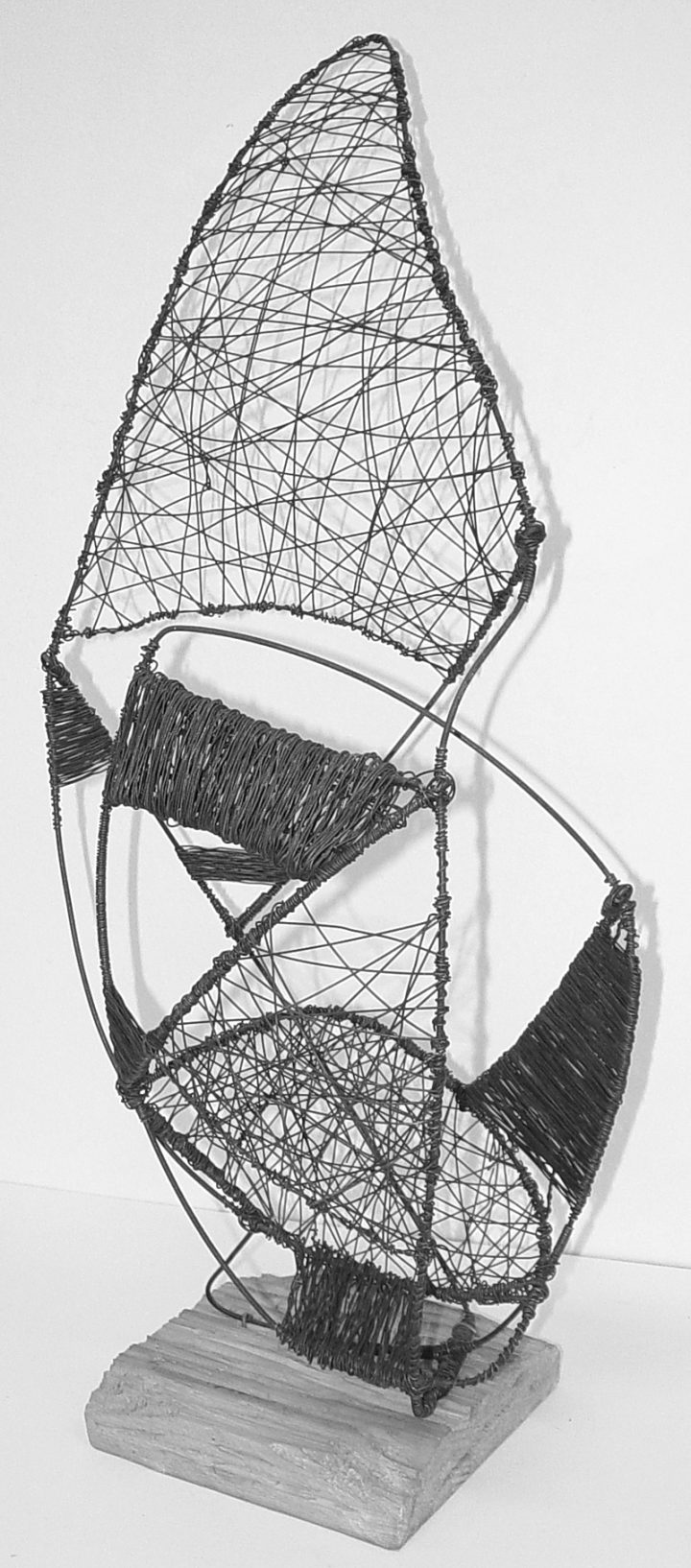 Wire abstract sculpture